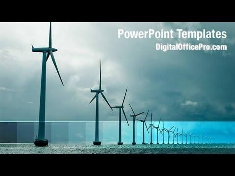Windmills Powerpoint Template Backgrounds Digitalofficepro 08445w Youtube