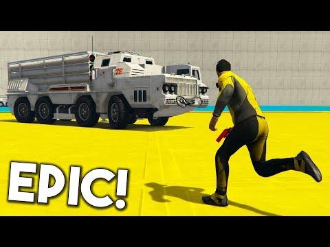 CORRE O TE ATROPELLO! SUPER TANQUE!! - GTA 5 ONLINE - GTA V ONLINE