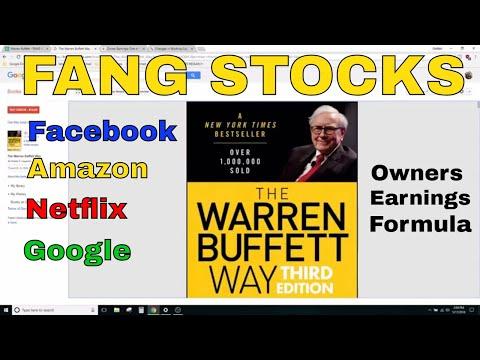 Using the Warren Buffett Formula to Analyze the FANG Stocks