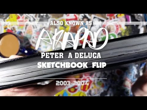 SketchBook #2 Flip Through  Comic Book Production (2003-2004 ) AKAPAD Peter A DeLuca