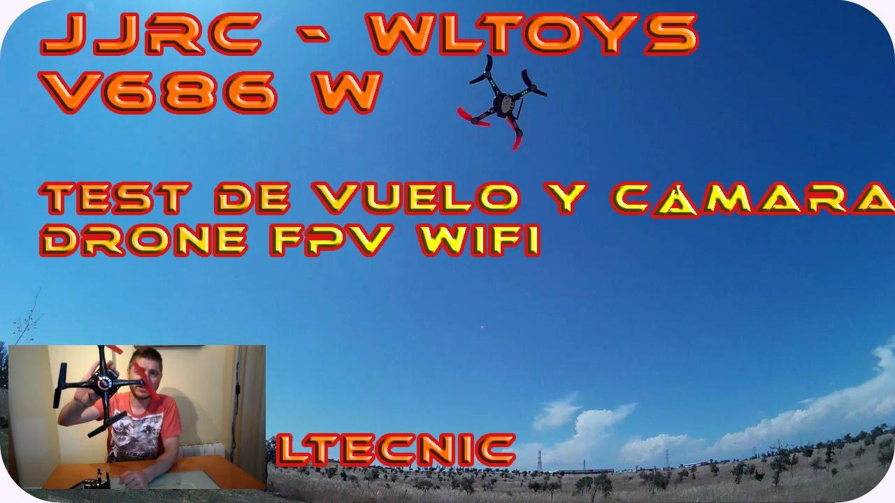 DRONE JJRC WLTOYS V686K Test De Vuelo Drone FPV LTECNIC
