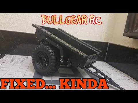 All Metal RC Utility Trailer (pt2) How I fixed it Kinda
