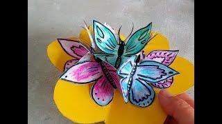Tutorial: Tarjeta pop up con mariposas. Aprende a hacer tarjetas de felicitación