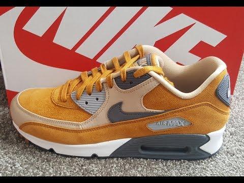 unboxing unpacking Nike Air Max 90 Premium Desert Ochre Dark