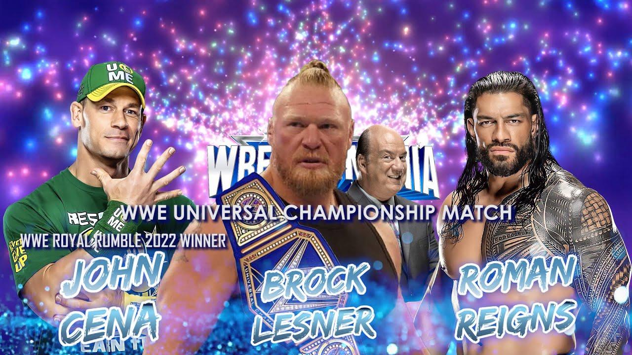 Download WWE Wrestlemania 38 Match Card | Realistic Dream Match Card Predictions
