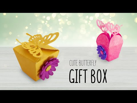 DIY Butterfly Gift Box | How To Make Gift Box ? EASY Paper Craft Ideas