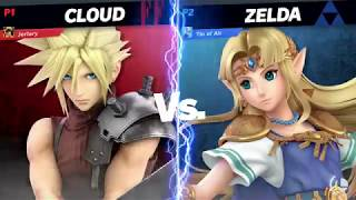 Cloud (Me) Vs Zelda - Super Smash Bros Ultimate (Quickplay)