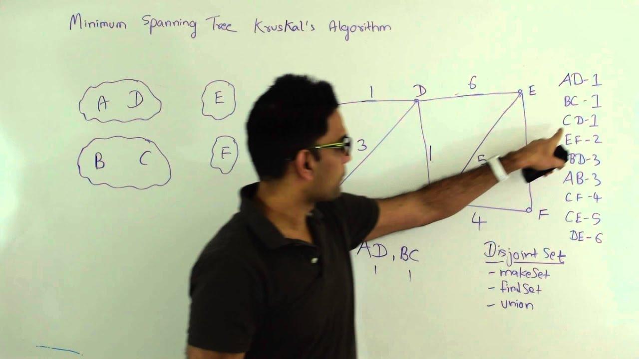 Kruskals algorithm minimum spanning tree graph algorithm youtube kruskals algorithm minimum spanning tree graph algorithm ccuart Images
