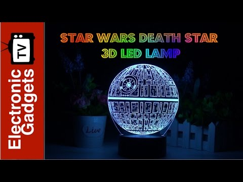 3D Lamp2 Lamp Holographic Star Wars Death Modes7 Colors LED Star Light N08wmn