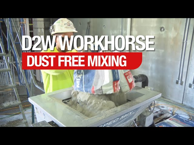 SPEC MIX D2W Workhorse and Dust Collection Accessory