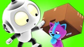 Rob The Robot - Ep#13 Space Cat Pet Sitters   Preschool Cartoons   Oddbods & Friends