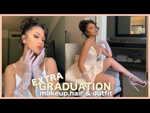 graduation-makeup,-hair-+-outfit-ideas