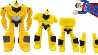Play Doh Transformer Magic Comes Alive! Bumblebee Optimus Prime Superman!