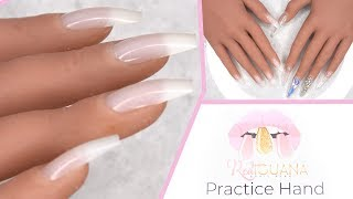 Acrylic Nails Tutorial - Red Iguana Silicone Practice Hand for Beginners + Coupon Code!!!