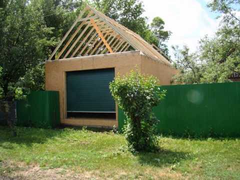 видео: Каркасный гараж на сваях