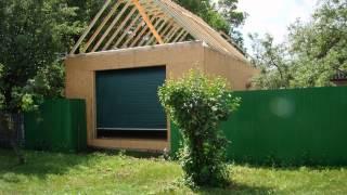 Каркасный гараж на сваях(Это видео создано в редакторе слайд-шоу YouTube: http://www.youtube.com/upload., 2013-12-18T12:21:30.000Z)