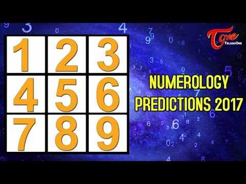 Numerology | Yearly Predictions 2017 | Number Predictions 1 to 9 | #Numerology