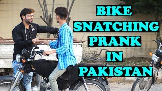 Stealing People's Bikes Prank | Pranks In Pakistan | Humanitarians | 2019