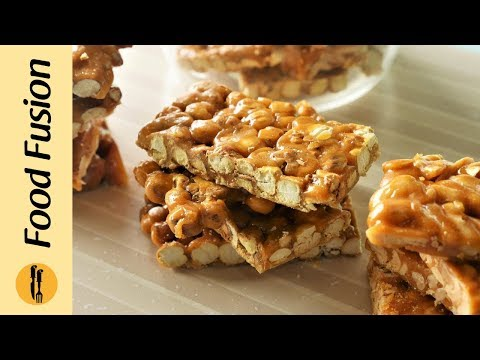 Chikki 4 ways with gur Recipe  by Food Recipes