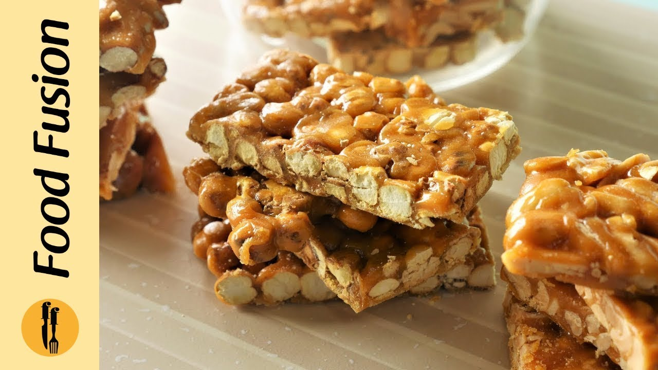 Chikki 4 ways with gur Recipe  by Food Fusion