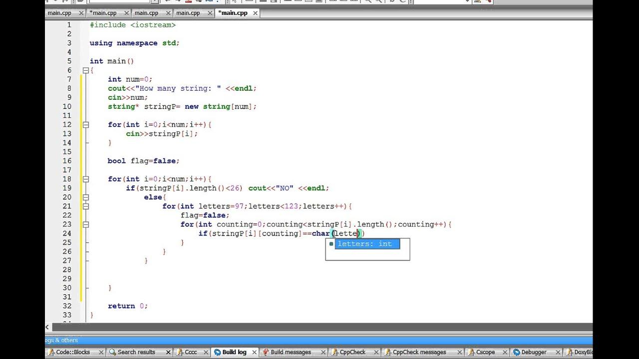 C++: Complete string (Hackerearth)