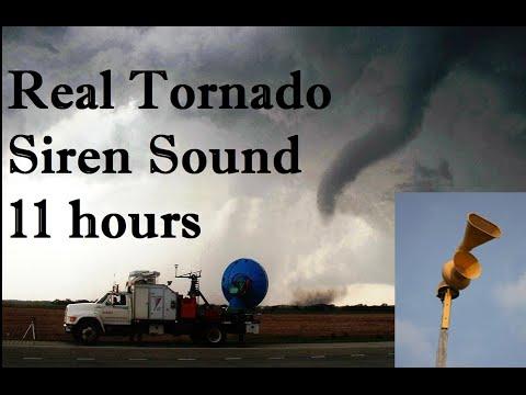 Tornado Siren Sound 11 hours - Air Raid Siren 10 hr