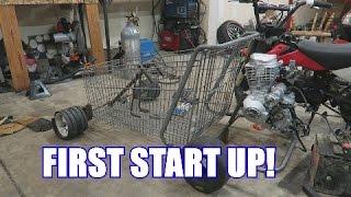 Shopping Go Kart Motor Mounted