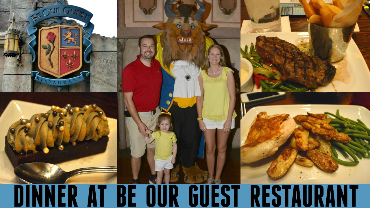 Dinner At Be Our Guest Restaurant Walt Disney World