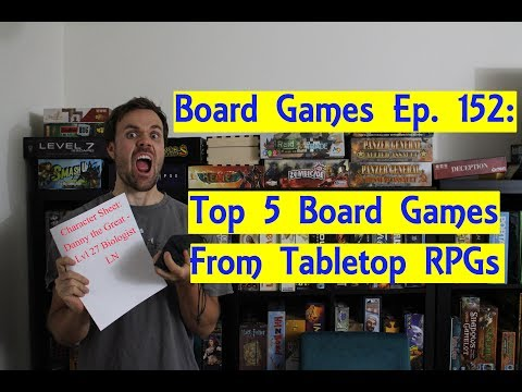 Top 5 Board Games Based on Tabletop RPGs
