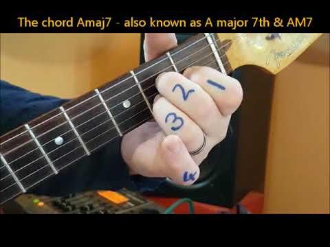 chords Amaj7