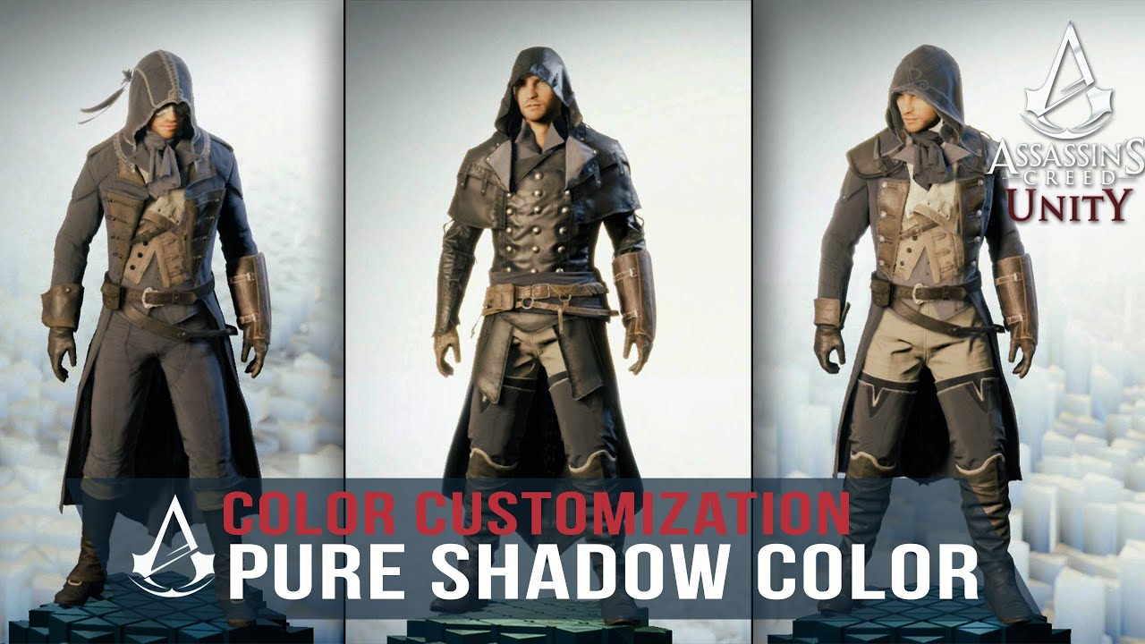 Assassin S Creed Unity Pure Shadow Color Customization Black