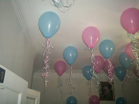 Como decorar el techo con globos youtube for Como encielar un techo
