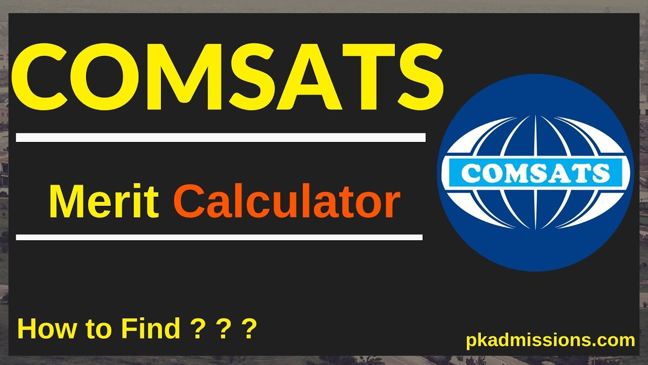 COMSATS Merit/Aggregate Calculator for COMSATS and Merit