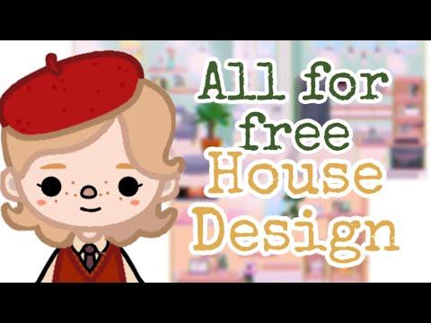 All for free house design | Обустройство дома за бесплатно | Toca boca | Тока бока | Aesthetic