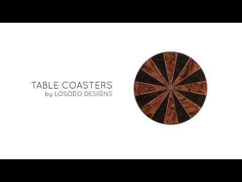 DIY Coasters Wood Veneers, Leather, Copper - How It's Made out of Scraps