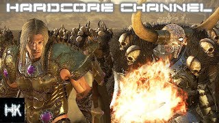 Total War Warhammer 2 - Империи Смертных прохождение Hardcore Хаос =20= Стонущий клинок
