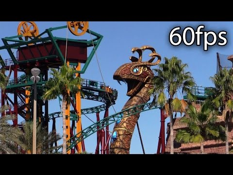 Cobra's Curse off-ride @60fps Busch Gardens Tampa
