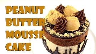 Vegan Peanut Butter Mousse Cake || Gretchen's Bakery