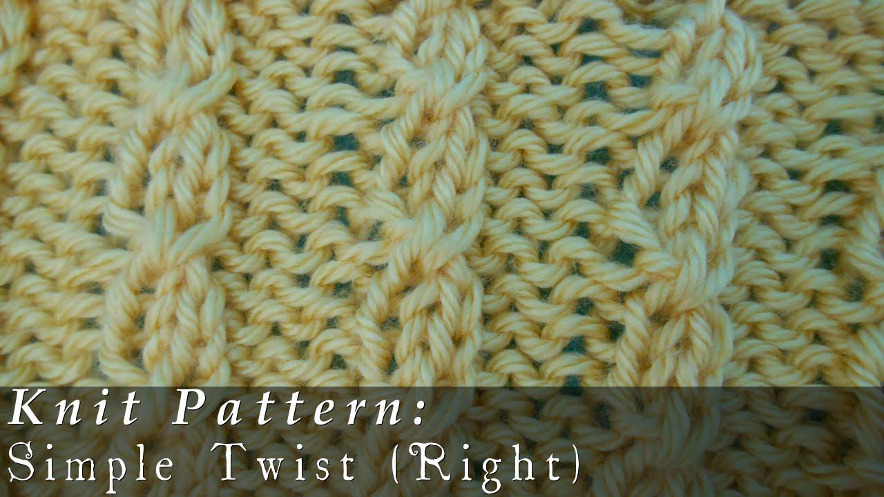 Simple Twist Knit Youtube