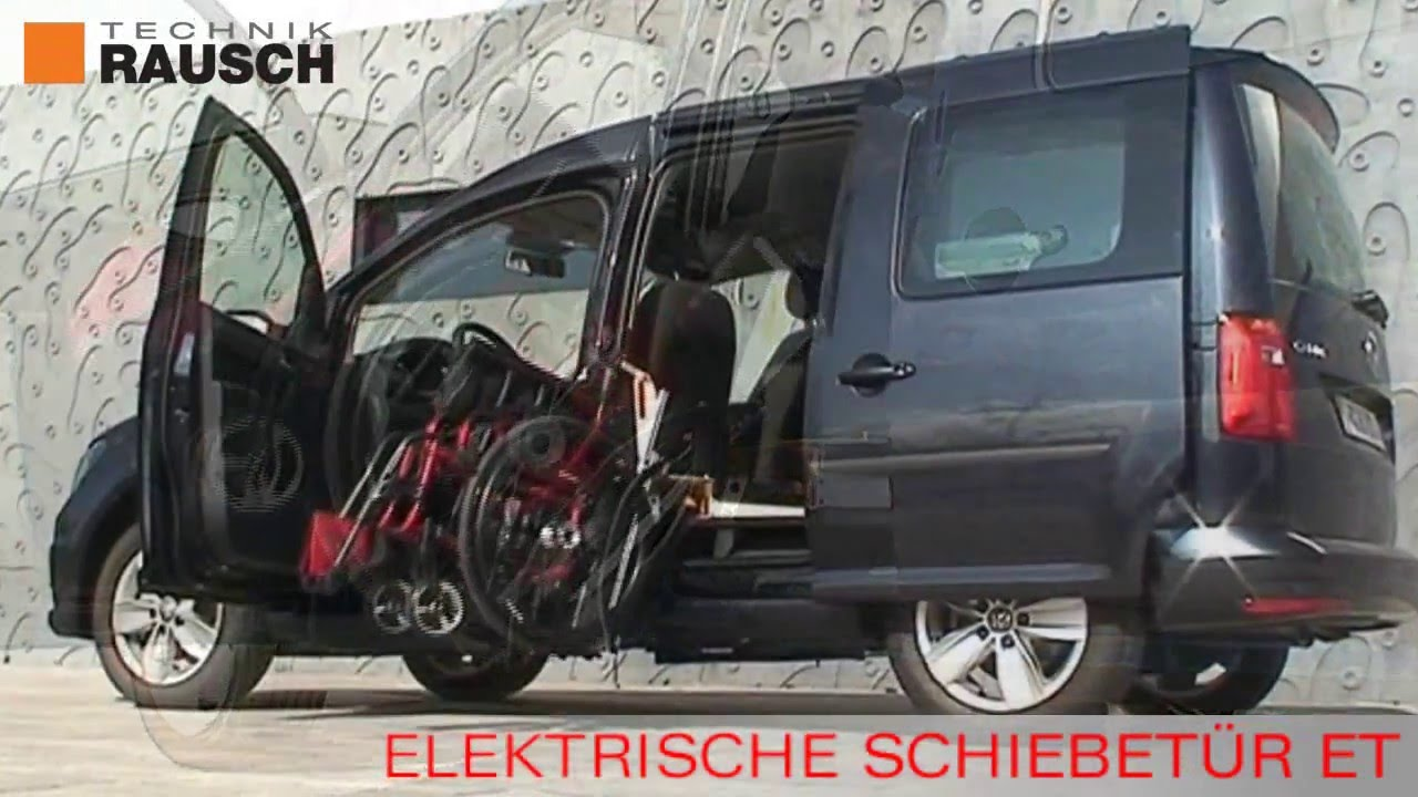 elektrische schiebetuer et f r vw caddy und andere pkw rausch technik gmbh youtube. Black Bedroom Furniture Sets. Home Design Ideas