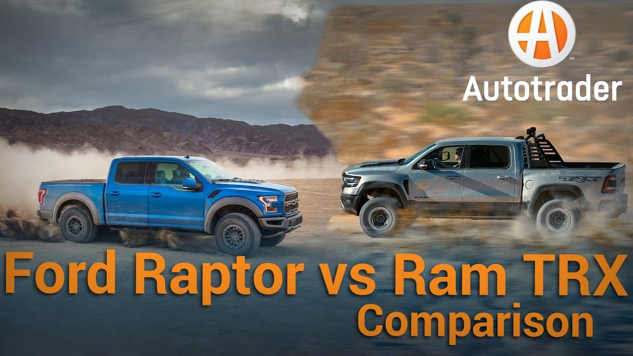 2021 Ford F-150 Raptor vs. Ram 1500 TRX: Specs compared