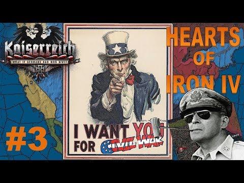 [3] UPADEK Amerykańskiej Demokracji! | USA | Kaiserreich | Hearts of Iron IV