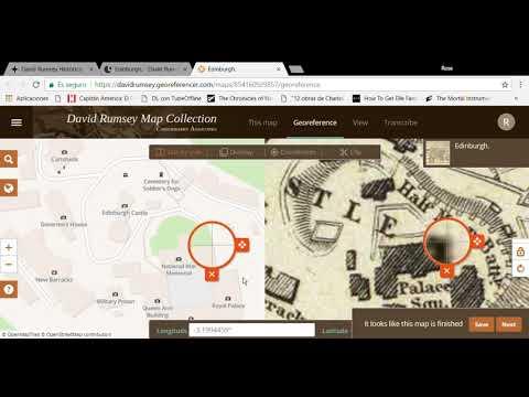 Georreferenciación mapa en David Rumsey.