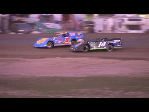 Late Model heat 2 at Mount Pleasant Speedway on 6-26-15