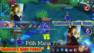 Guinevere Build Fighter VS Guinevere Build Mage - Mobile Legends eksperimen