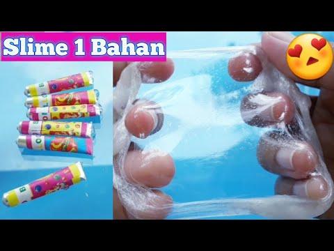 Slime 1 Bahan Cara membuat slime dengan 1 bahan