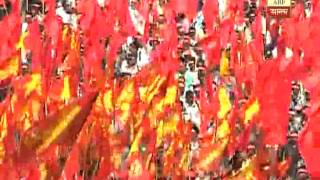 Left rally coming from N 24 Pargana to attain Brigade meeting