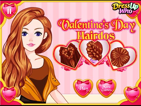 Valentine's Day Hairdos Free Online Hairstyle Fashion Games For