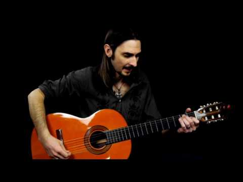 how-to-play-flamenco-guitar-for-beginners---picado-rest-stroke-for-beginners