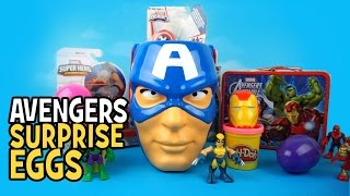 Avengers Toys Play-Doh Surprise Eggs with Avengers Toys Surprise Bucket by KidCity